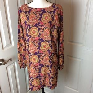 Loft fall paisley dress
